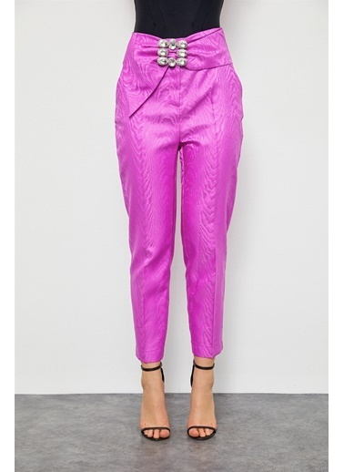 Setre Orkide Taşlı Kemerli Pantolon Renkli